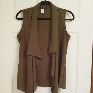 Olive Green Cardigan Vest